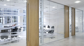 Glazed partition